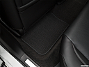 2017 Acura TLX 3.5L, rear driver's side floor mat. mid-seat level from outside looking in.