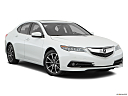2017 Acura TLX 3.5L, front passenger 3/4 w/ wheels turned.