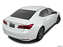 2017 Acura TLX 3.5L, rear 3/4 angle view.