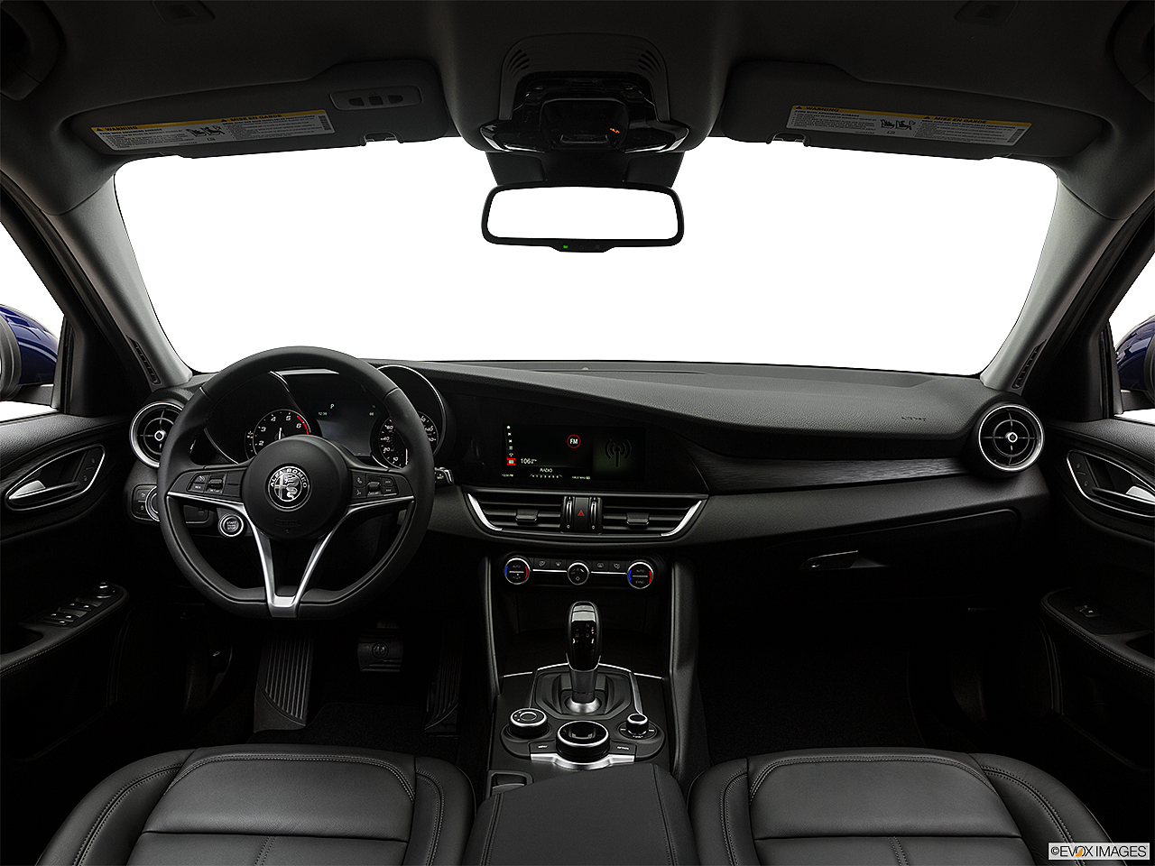 2017 Alfa Romeo Giulia, centered wide dash shot