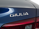 2017 Alfa Romeo Giulia, rear model badge/emblem