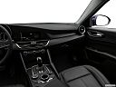 2017 Alfa Romeo Giulia, center console/passenger side.