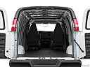 2017 Chevrolet Express 2500 Cargo Extended WT, trunk open.