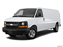 2017 Chevrolet Express 2500 Cargo Extended WT, front angle medium view.