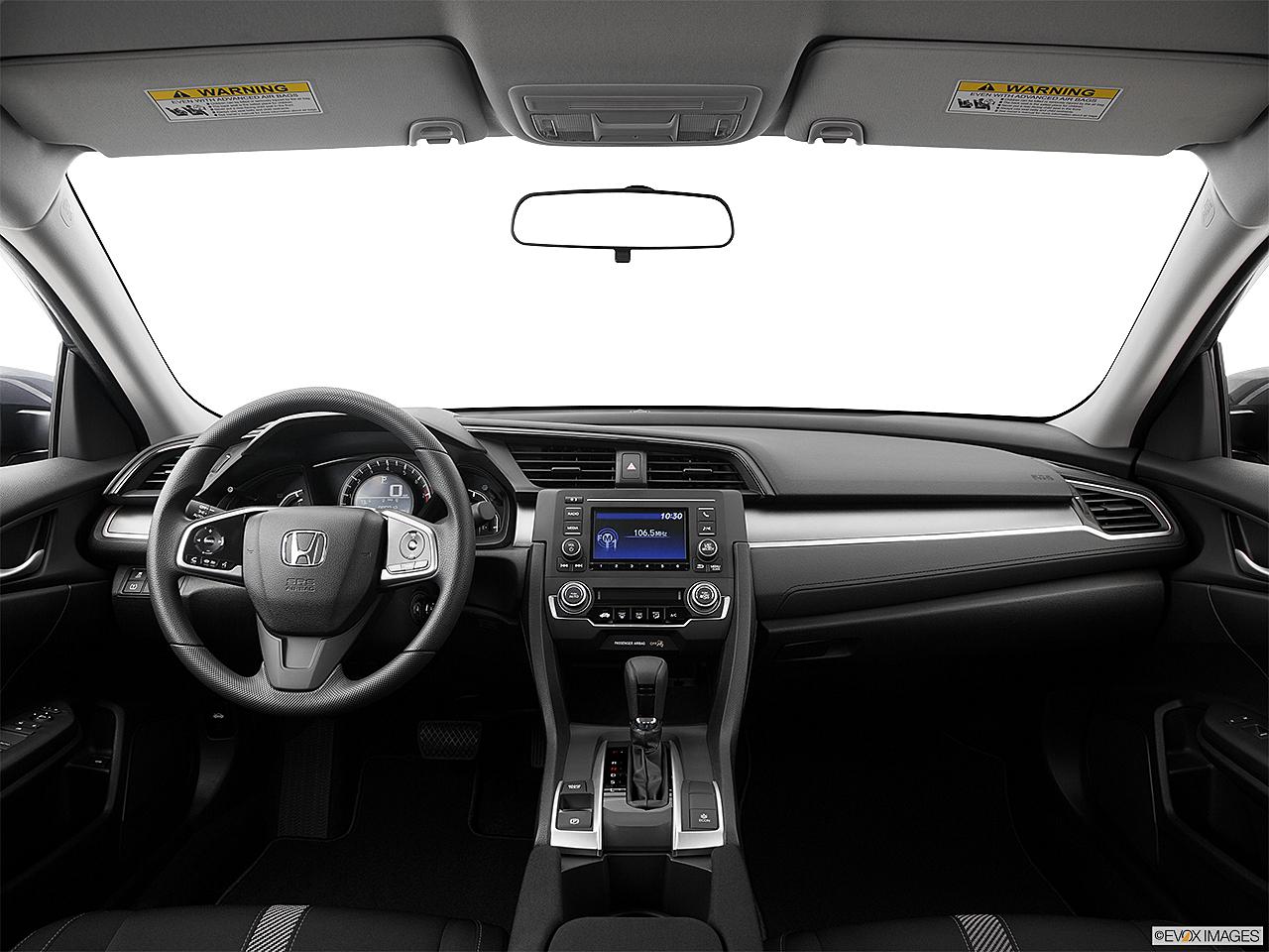 2017 Honda Civic Lx Centered Wide Dash Shot