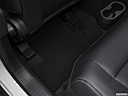 2017 Jeep Patriot Sport, rear driver's side floor mat. mid-seat level from outside looking in.