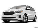 2017 Kia Sedona LX, front angle view, low wide perspective.