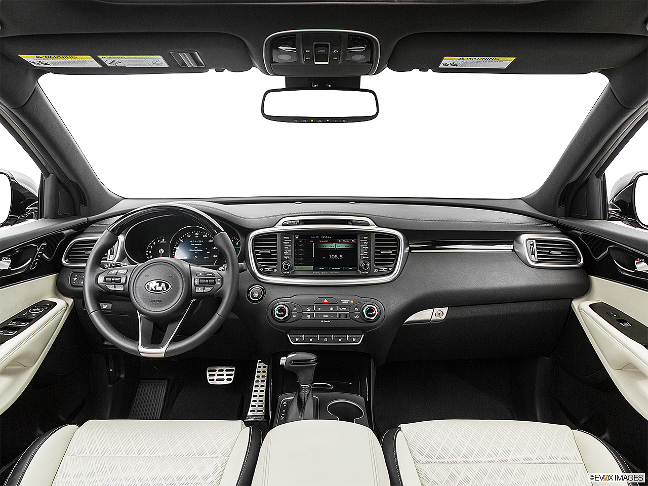 2017 Kia Sorento SX Limited, centered wide dash shot