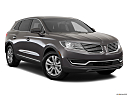 2017 Lincoln MKX Premiere, front passenger 3/4 w/ wheels turned.