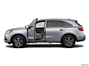 2018 Acura MDX, driver's side profile with drivers side door open.