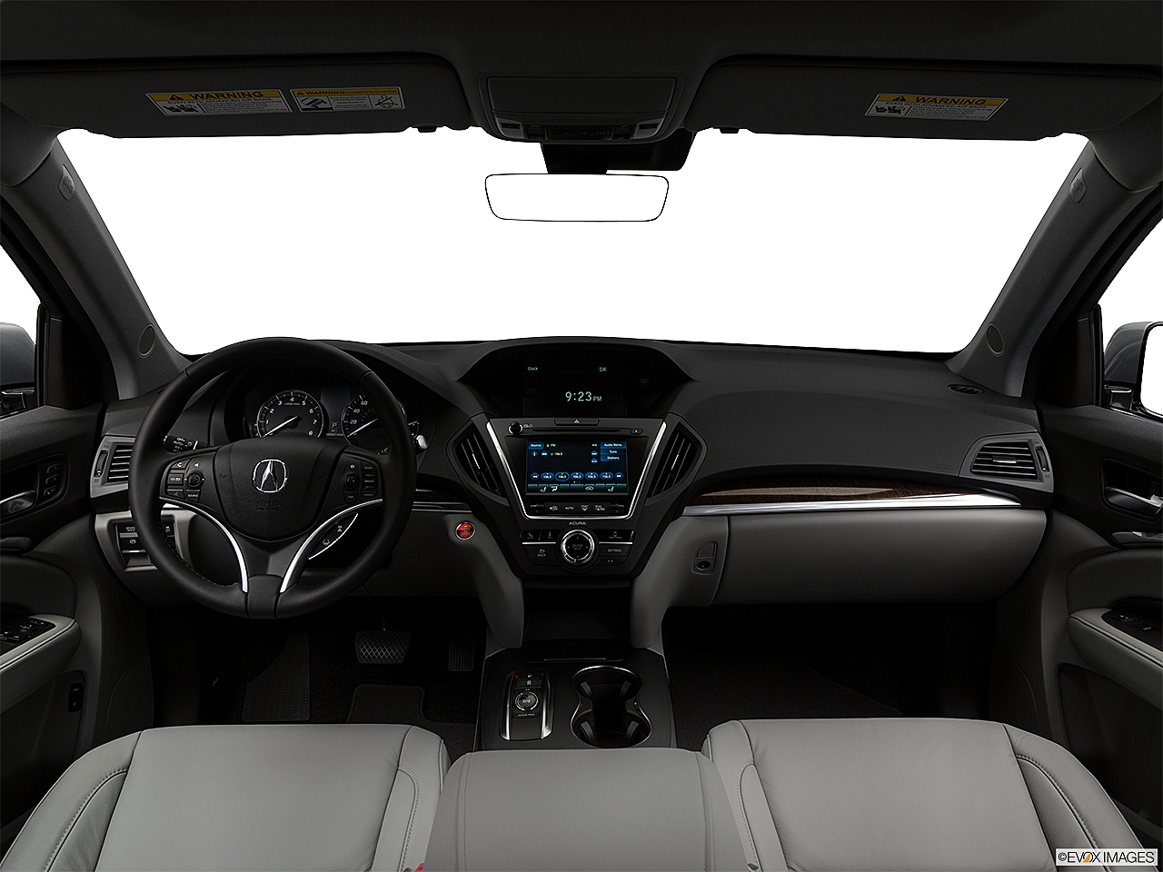 2018 Acura MDX, centered wide dash shot