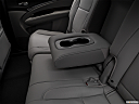 2018 Acura MDX, rear center console with closed lid from driver's side looking down.