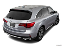 2018 Acura MDX, rear 3/4 angle view.