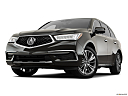 2018 Acura MDX Sport Hybrid SH-AWD, front angle view, low wide perspective.