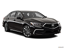 2018 Acura RLX, front passenger 3/4 w/ wheels turned.