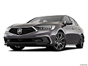 2018 Acura RLX Sport Hybrid SH-AWD, front angle view, low wide perspective.