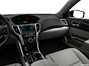 2018 Acura TLX 2.4 8-DCT P-AWS, center console/passenger side.