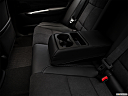 2018 Acura TLX 3.5L A-Spec, rear center console with closed lid from driver's side looking down.