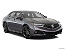2018 Acura TLX 3.5L A-Spec, front passenger 3/4 w/ wheels turned.