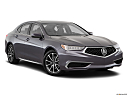 2018 Acura TLX 3.5L w/ Technology Package, front passenger 3/4 w/ wheels turned.