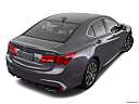 2018 Acura TLX 3.5L w/ Technology Package, rear 3/4 angle view.