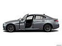 2018 Alfa Romeo Giulia, driver's side profile with drivers side door open.