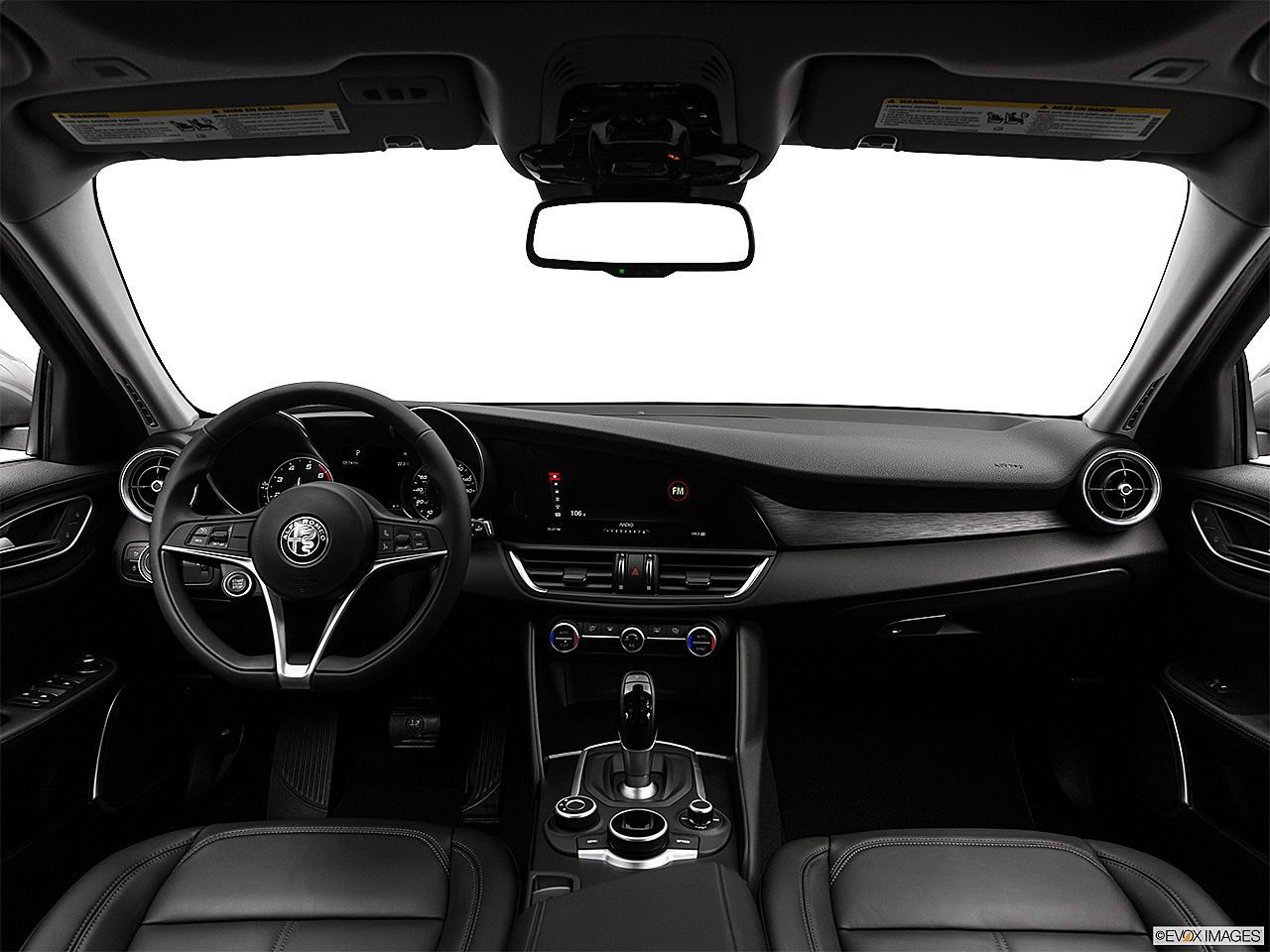 2018 Alfa Romeo Giulia, centered wide dash shot