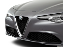 2018 Alfa Romeo Giulia, close up of grill.