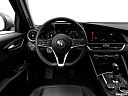 2018 Alfa Romeo Giulia, steering wheel/center console.