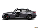 2018 Alfa Romeo Giulia Ti Sport, driver's side profile with drivers side door open.
