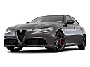 2018 Alfa Romeo Giulia Ti Sport, front angle view, low wide perspective.