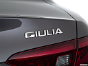 2018 Alfa Romeo Giulia Ti Sport, rear model badge/emblem