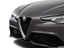 2018 Alfa Romeo Giulia Ti Sport, close up of grill.