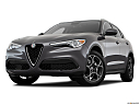 2018 Alfa Romeo Stelvio, front angle view, low wide perspective.