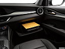 2018 Alfa Romeo Stelvio, glove box open.