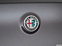 2018 Alfa Romeo Stelvio, rear manufacture badge/emblem
