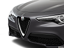 2018 Alfa Romeo Stelvio, close up of grill.