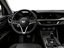 2018 Alfa Romeo Stelvio, steering wheel/center console.