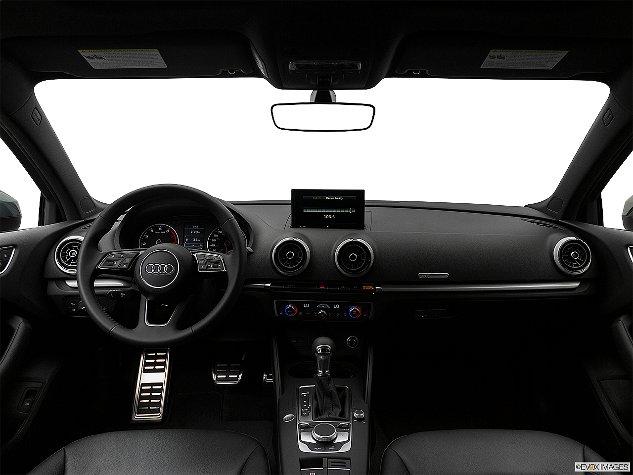 2018 Audi A3 Premium 2.0 TFSI, centered wide dash shot
