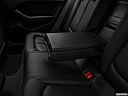 2018 Audi A3 Premium Plus 2.0 TFSI, rear center console with closed lid from driver's side looking down.