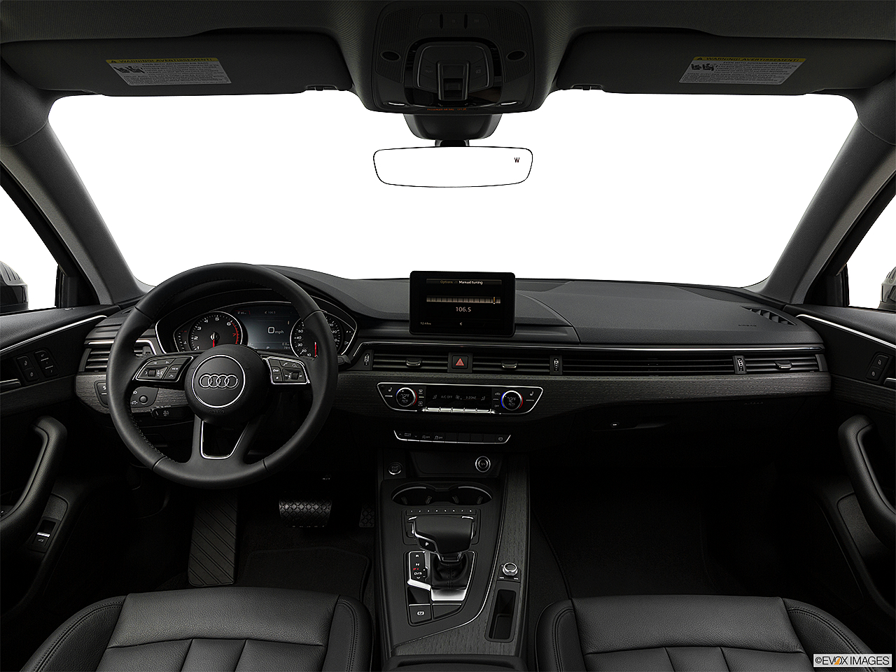 2018 Audi A4 Premium 2.0 TFSI ultra, centered wide dash shot