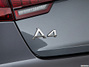 2018 Audi A4 Premium 2.0 TFSI ultra, rear model badge/emblem