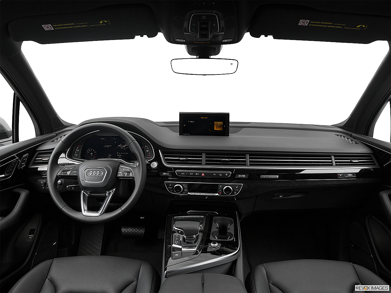 2018 Audi Q7 Prestige 3.0 TFSI, centered wide dash shot