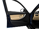 2018 BMW 3-series 320i, inside of driver's side open door, window open.
