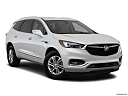 2018 Buick Enclave Essence, front passenger 3/4 w/ wheels turned.
