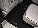 2018 Chrysler Pacifica Limited, rear driver's side floor mat. mid-seat level from outside looking in.