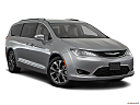 2018 Chrysler Pacifica Limited, front passenger 3/4 w/ wheels turned.