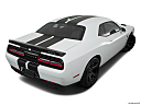 2018 Dodge Challenger SRT Hellcat, rear 3/4 angle view.