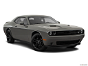2018 Dodge Challenger SXT, front passenger 3/4 w/ wheels turned.