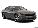 2018 Dodge Charger SXT Plus, front passenger 3/4 w/ wheels turned.